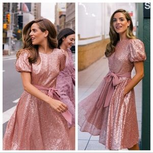 NWT Gal Meets Glam Glam Beatrix Sequin Dress 6